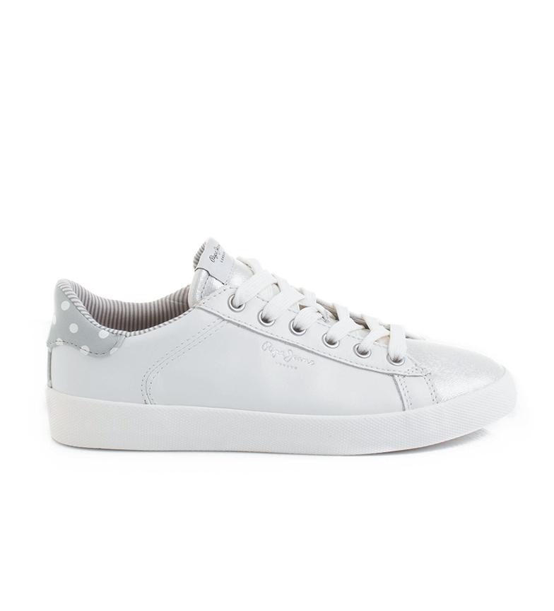 Comprar Pepe Jeans Scarpe Kyoto Dotty bianche, argento