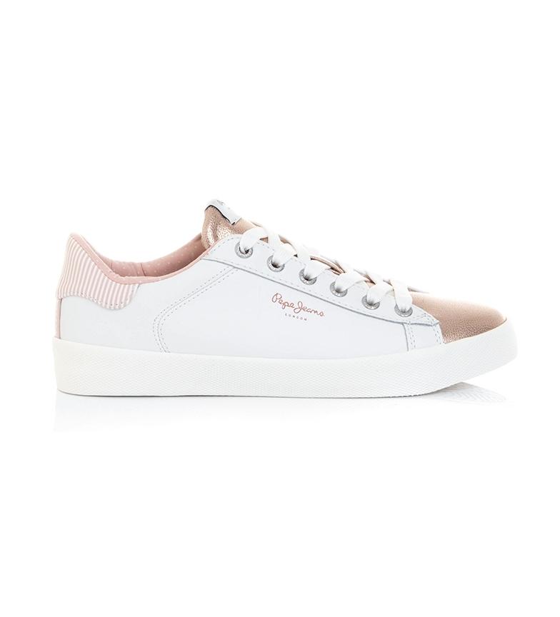 Comprar Pepe Jeans Zapatillas de piel Kioto One blanco, dorado