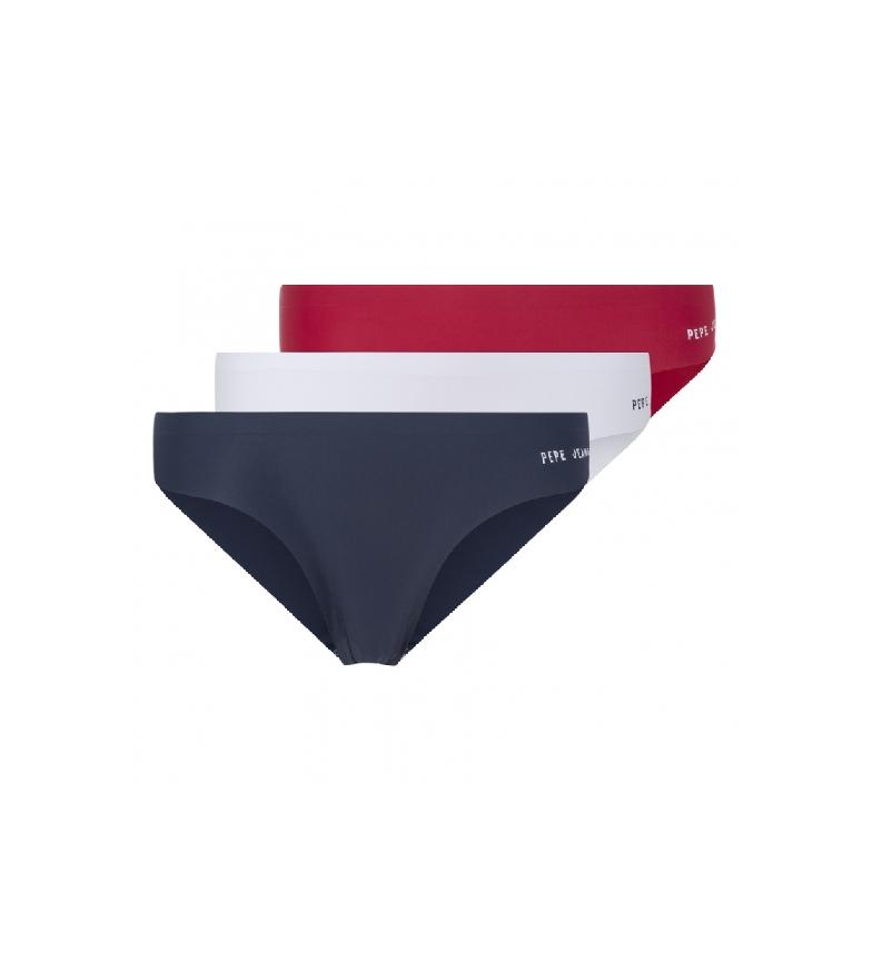 Comprar Pepe Jeans Confezione da 3 slip Lucia blu, bianco, rosso