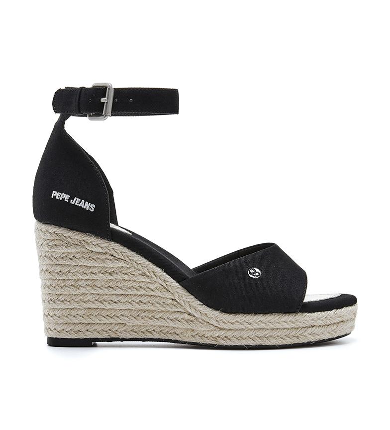 Pepe Jeans Sandálias Maida Baixo preto -Cunha de altura: 8,5 cm
