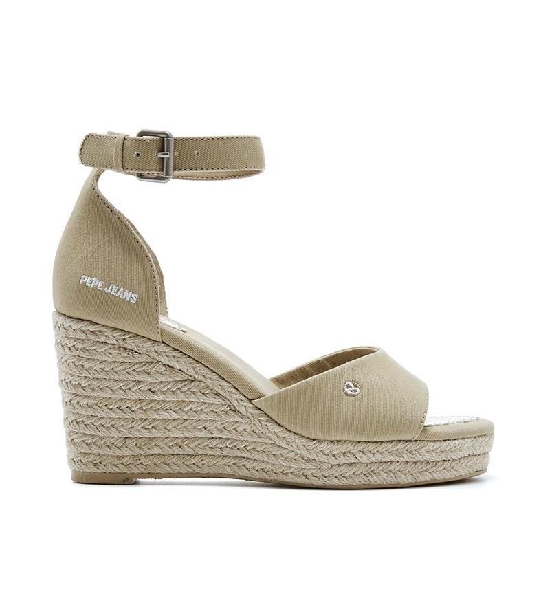 Comprar Pepe Jeans Sandali beige Maida Bass -Altezza zeppa: 8,5 cm-