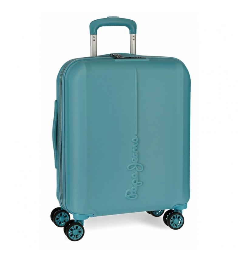Comprar Pepe Jeans Maleta de cabina Pepe Jeans Glasgow Azul Mar rígida -40x55x20cm-