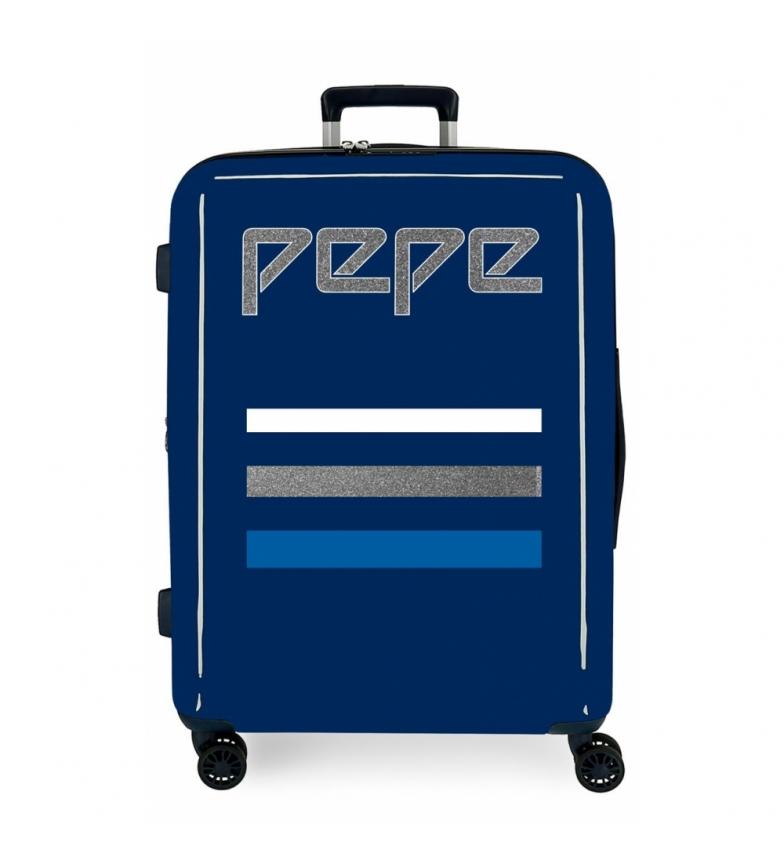 Comprar Pepe Jeans Mala Grande Pepe Jeans Descolagem rígida 81L azul -70x48x26cm