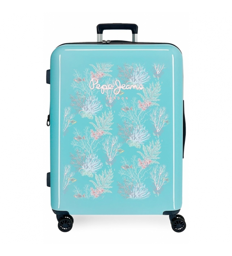 Comprar Pepe Jeans Suitcase Grande Pepe Jeans Taking off rigid 81L turquoise -70x48x26cm