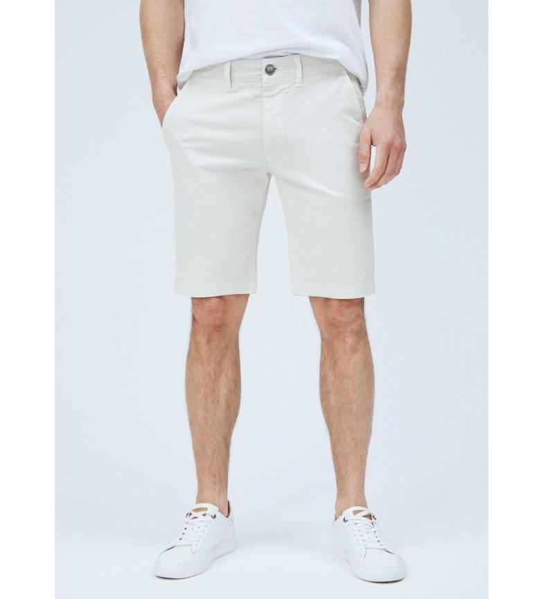 Pepe Jeans Bermudas Estilo Chino MC Queen blanco roto