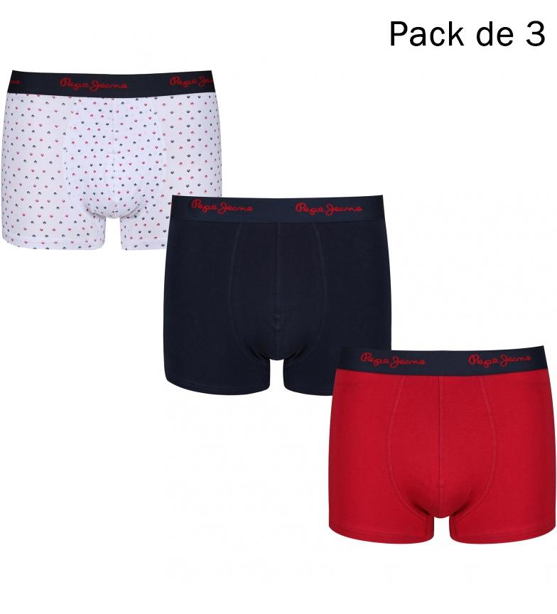Comprar Pepe Jeans Lot de 3 Boxers Bram marine, rouge, blanc
