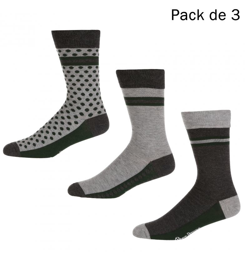 Comprar Pepe Jeans Pack of 3 Socks Arden grey, green