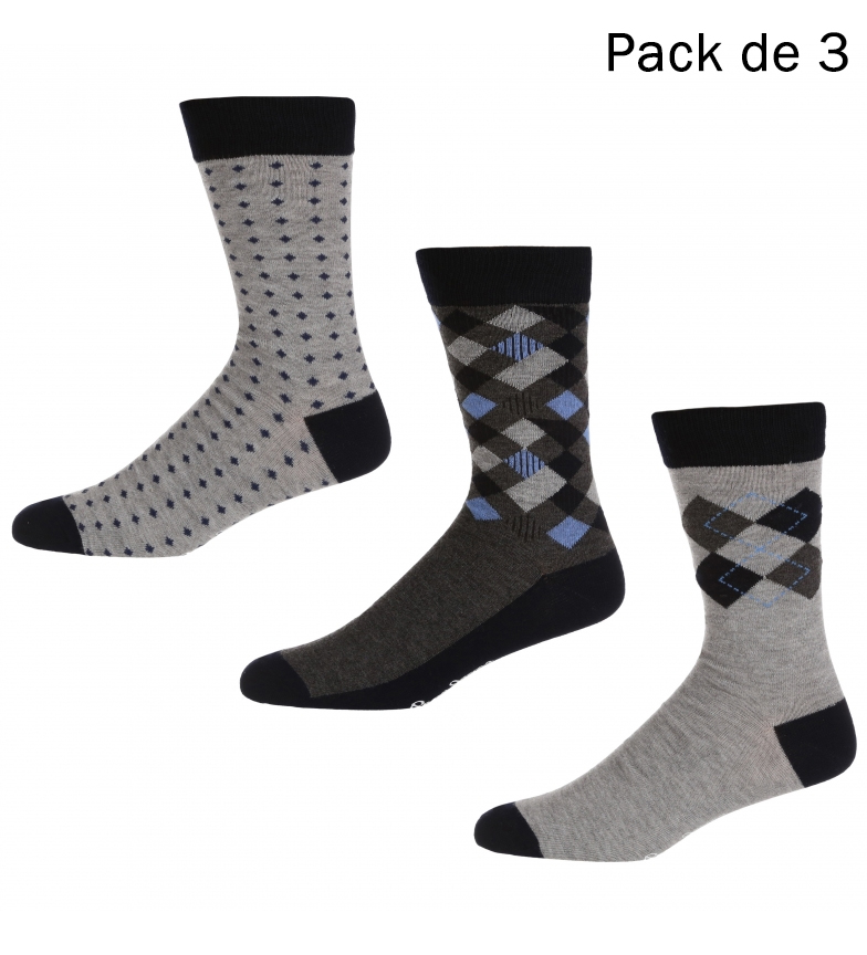 Comprar Pepe Jeans Pack de 3 Calcetines Marland gris, marino