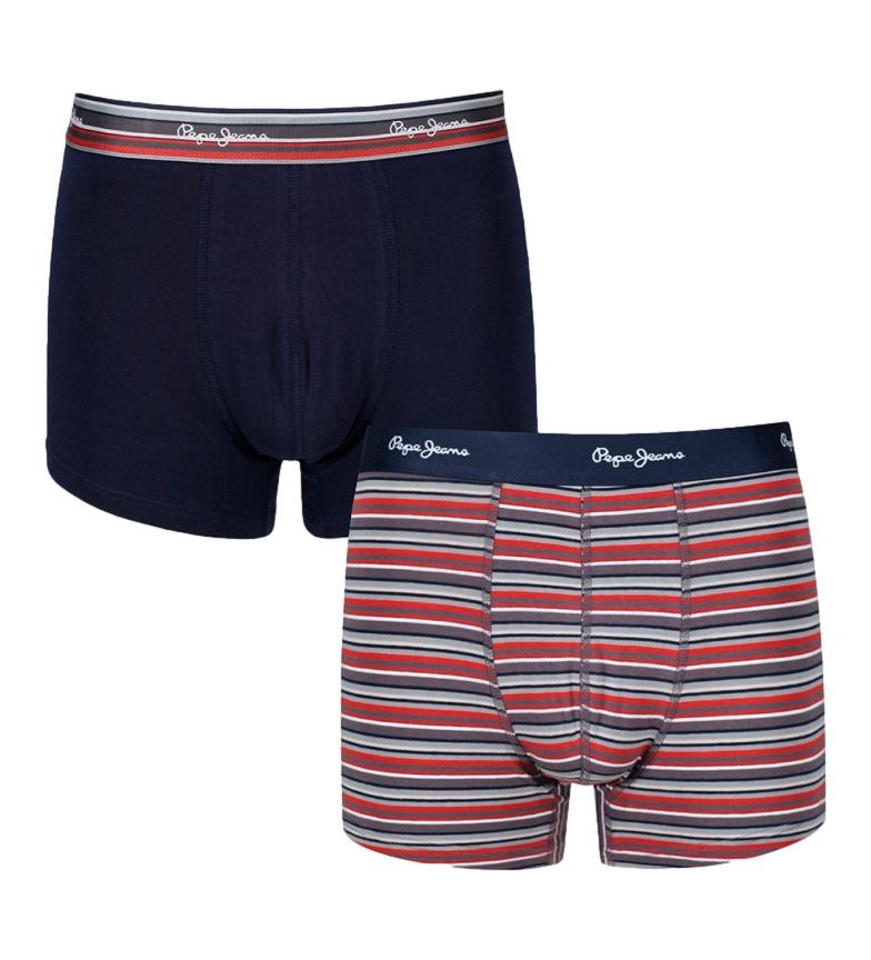 Comprar Pepe Jeans Confezione da 2 boxer blu navy Kris, strisce