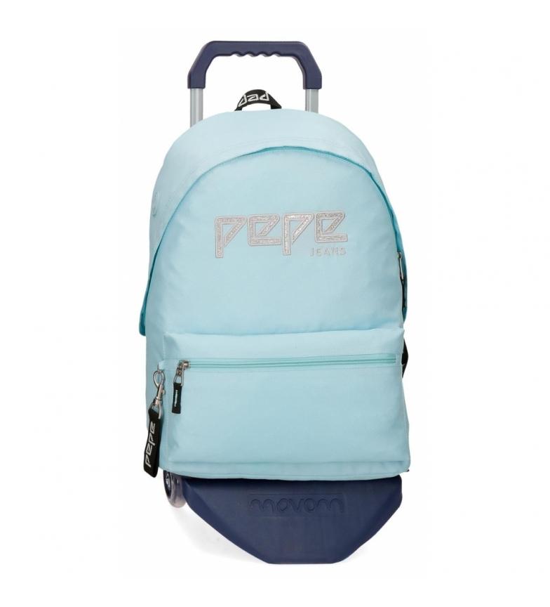 Comprar Pepe Jeans Zaino con auto Pepe Jeans Uma azzurro -31x42x17,5cm-