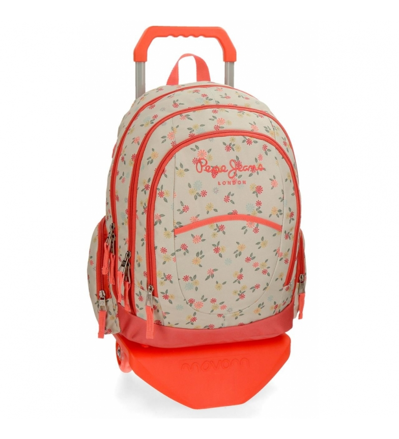 Comprar Pepe Jeans Backpack 44 cm double zipper with trolley Pepe Jeans Joseline -34x44x16cm