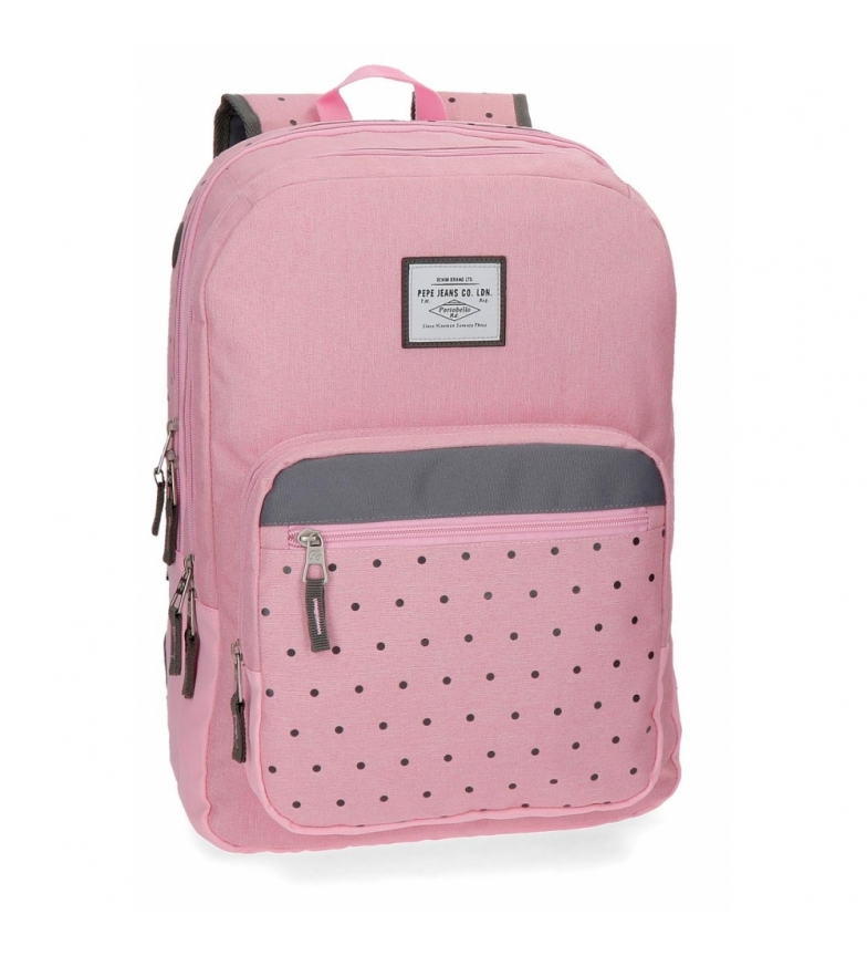 Comprar Pepe Jeans Backpack 44 cm double zipper Pepe Jeans Molly pink -30,5x44x15cm