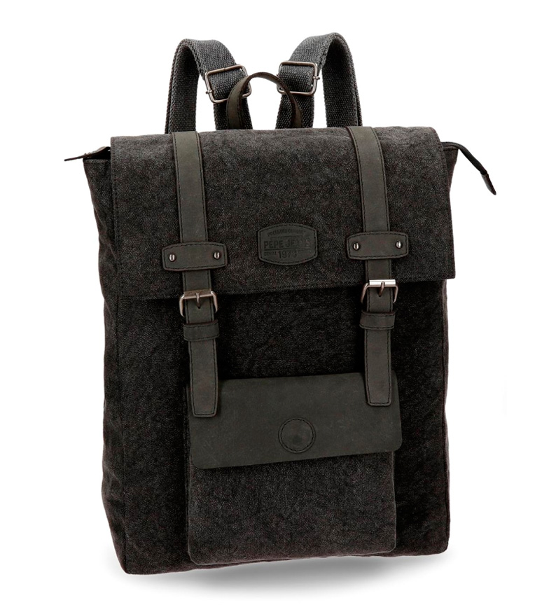 Comprar Pepe Jeans Casual backpack Pepe Jeans Horse black square computer compartment leather details