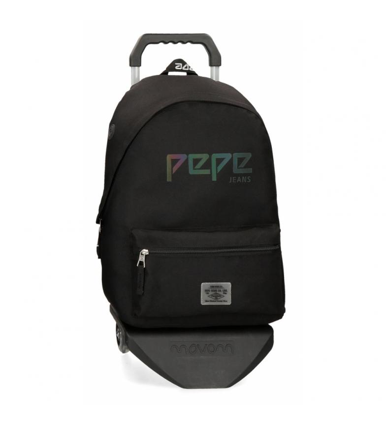 Comprar Pepe Jeans Zaino con carrello Pepe Jeans Osset nero -31x42x17,5cm-