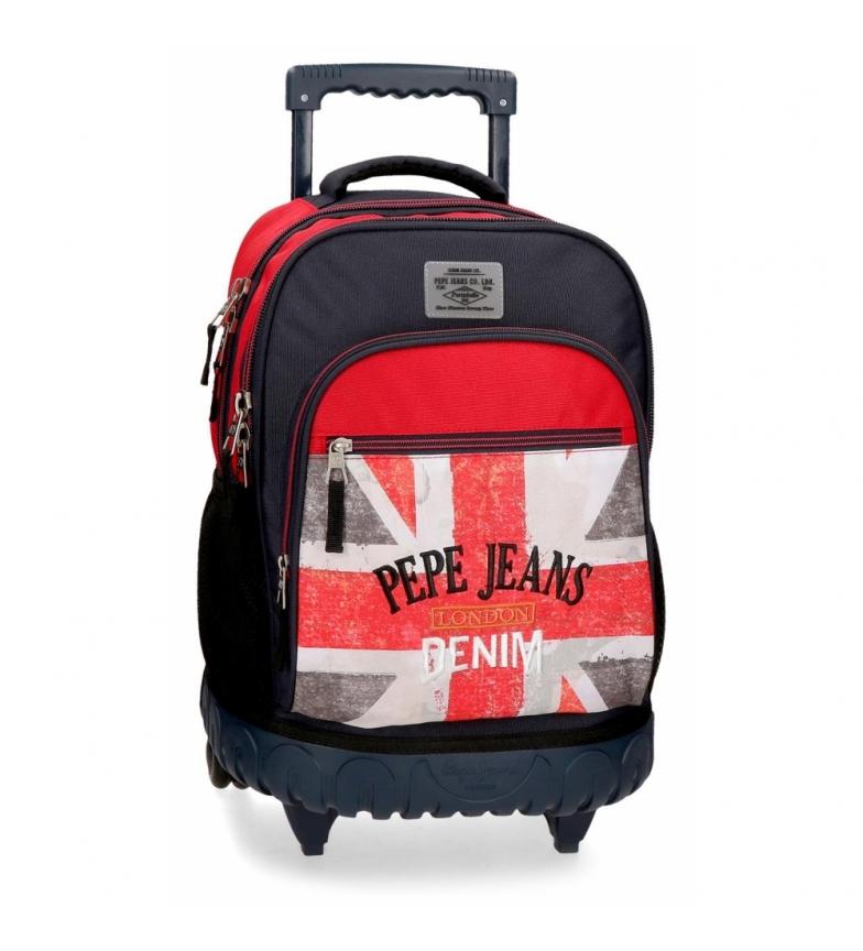 Comprar Pepe Jeans Mochila Calvin com rodas -32x43x21x21cm