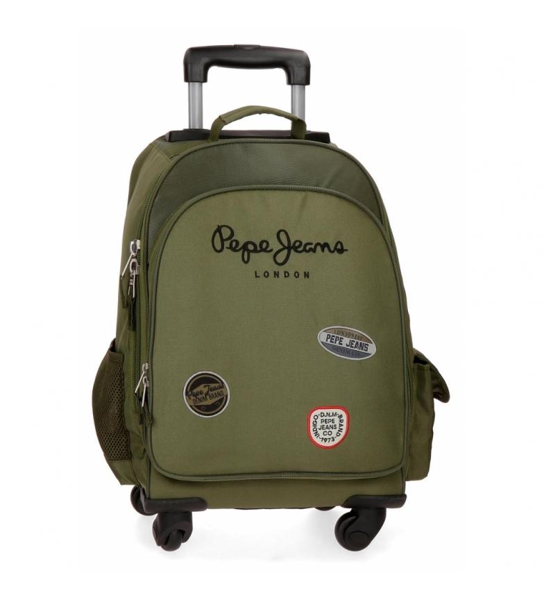 Comprar Pepe Jeans Mochila com rodas Pepe Jeans Kensigton 4R verde -44x33x21x21cm