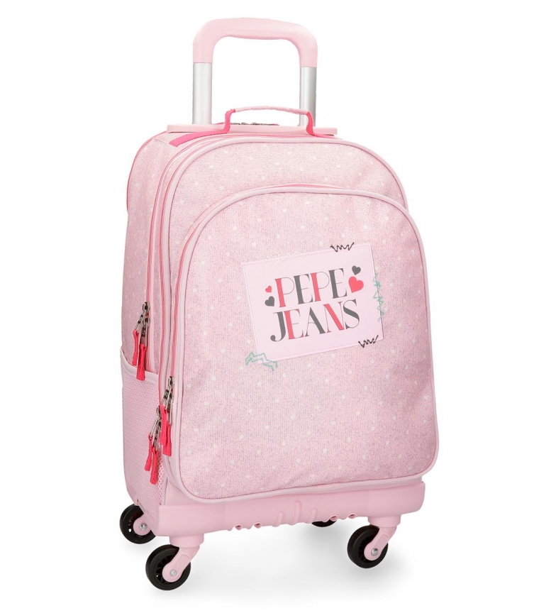 Comprar Pepe Jeans Backpack with wheels Pepe Jeans Olaia pink 4R -44x33x21cm-