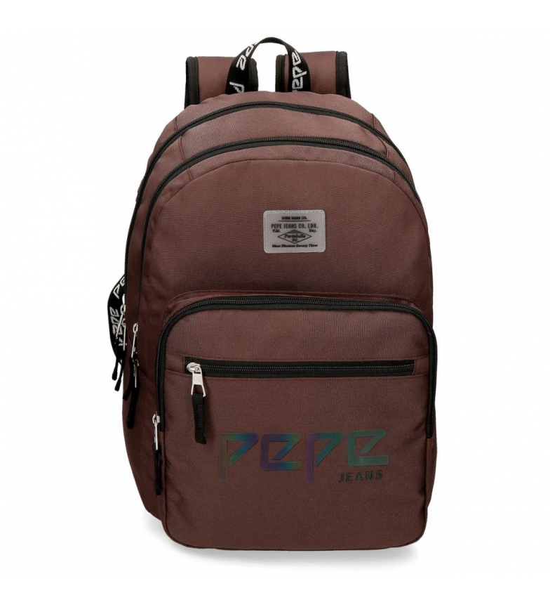 Comprar Pepe Jeans Backpack Double Zip Adaptable Pepe Jeans Osset brown -31x46x15cm