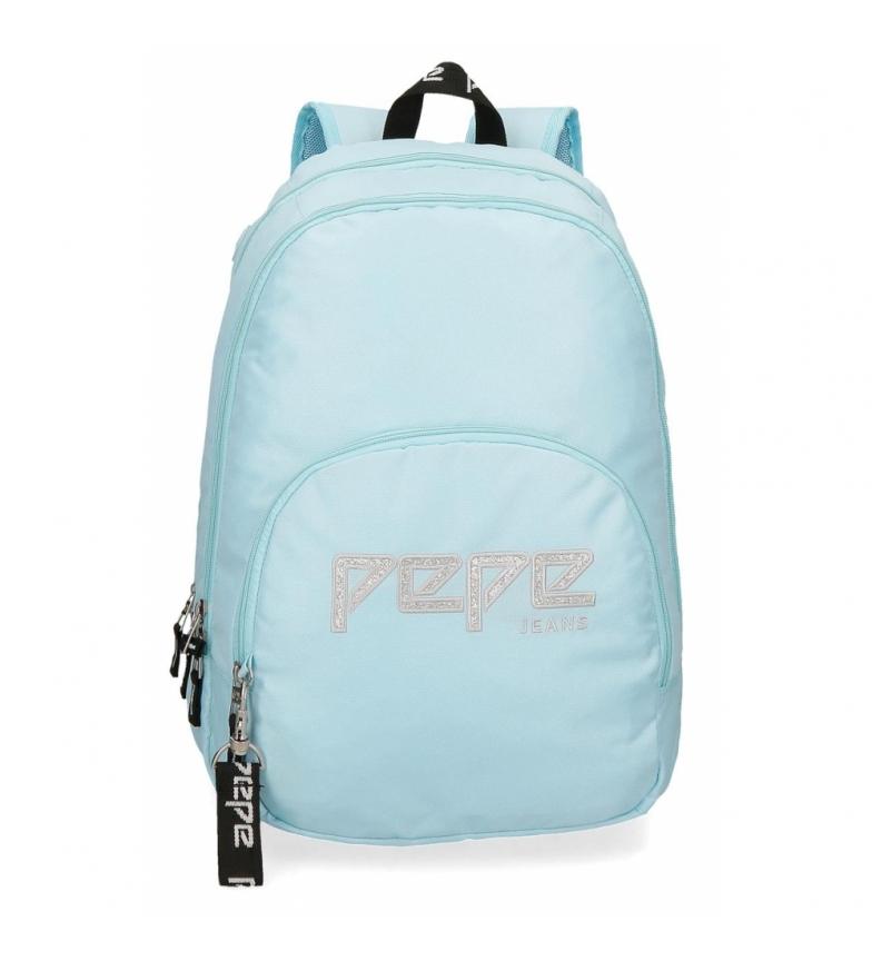 Comprar Pepe Jeans Mochila doble cremallera adaptable Pepe Jeans Uma azul celeste -31x44x15cm-