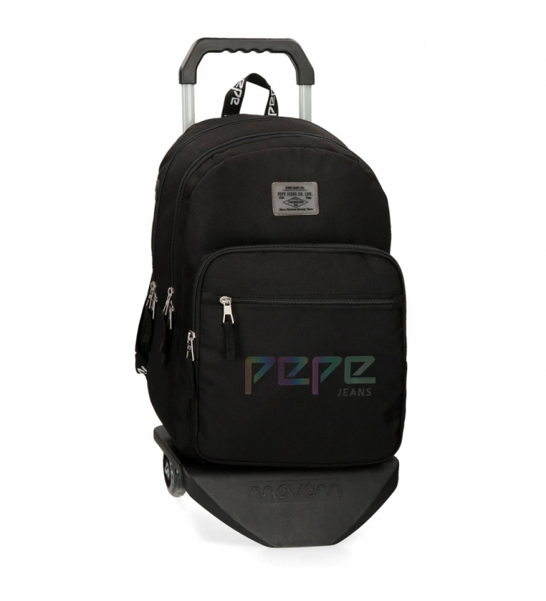 Comprar Pepe Jeans Backpack Double Zipper with Trolley Pepe Jeans Osset black -31x46x15cm