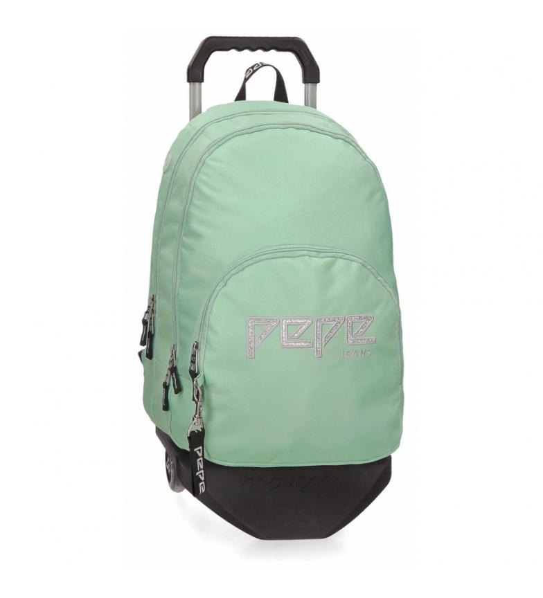 Comprar Pepe Jeans Zaino con doppia cerniera con Pepe Jeans Uma green cart -31x44x15cm-