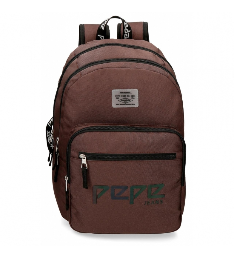 Comprar Pepe Jeans Mochila Doble Cremallera Pepe Jeans Osset marrón -31x46x15cm-
