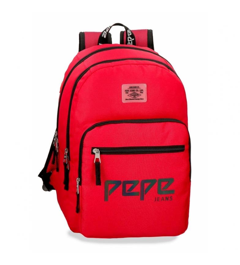 Comprar Pepe Jeans Mochila Doble Cremallera Pepe Jeans Osset roja -31x46x15cm-
