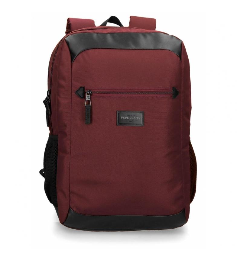 Comprar Pepe Jeans Zaino per laptop con porta USB Lambert Bordeaux -31x45x18cm-
