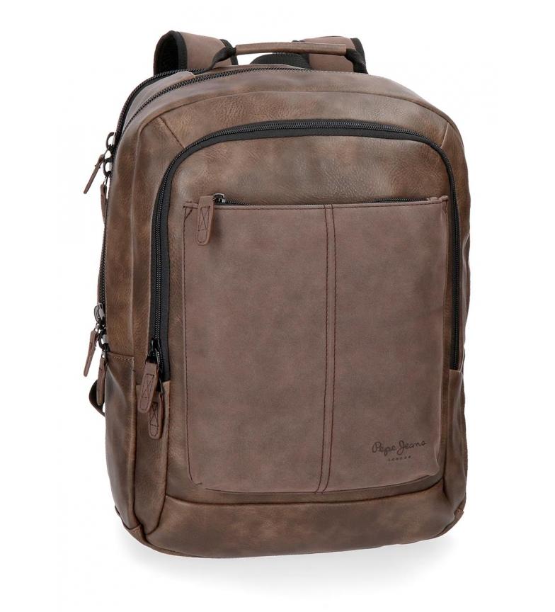 Comprar Pepe Jeans Sac à dos pour ordinateur portable Pepe Jeans Cranford Brown double compartiment -31x47x1cm-