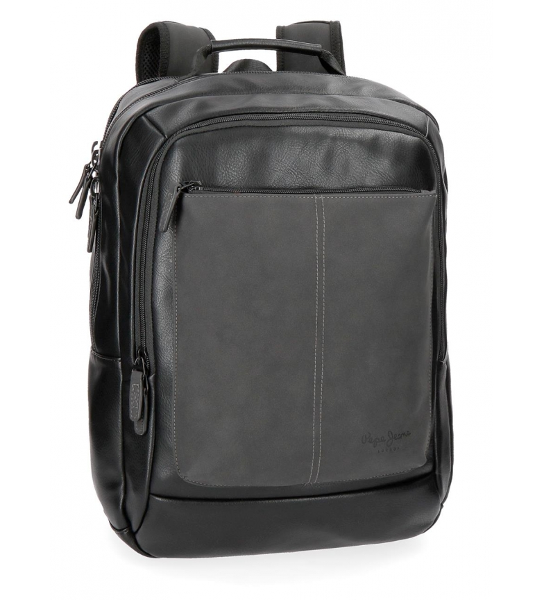 681a0de8b31 Comprar Pepe Jeans Backpack for laptop Pepe Jeans Cranford Black double  compartment -31x47x11cm-