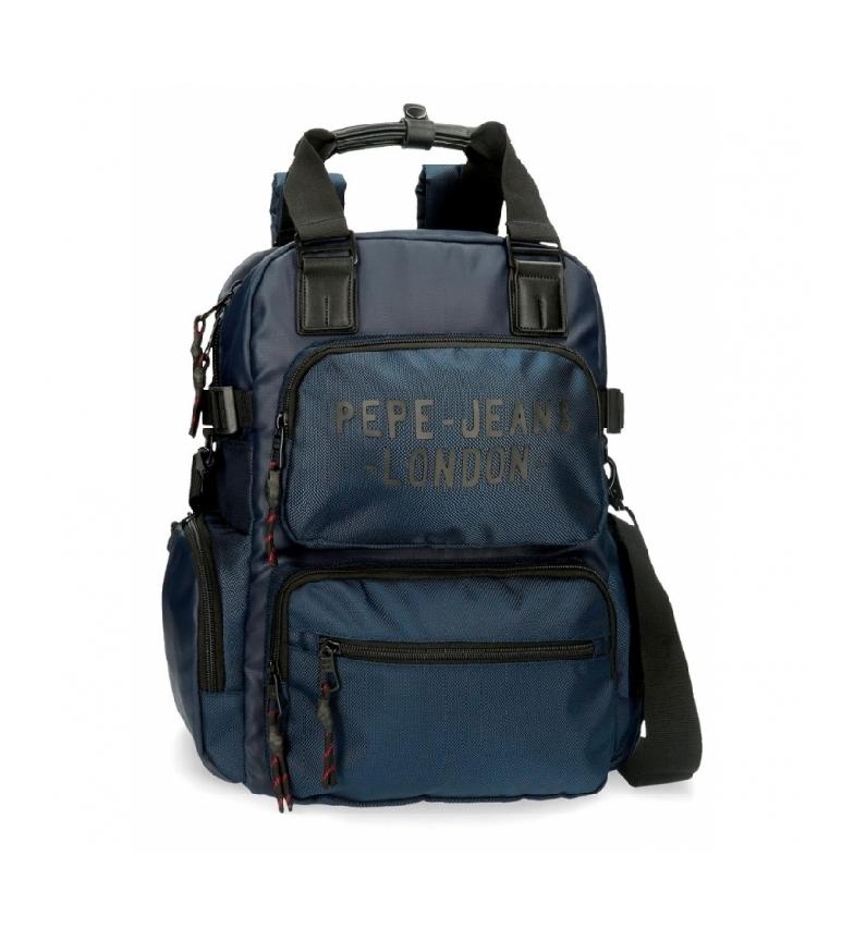 Comprar Pepe Jeans Zaino Pepe Jeans Bromley con tracolla blu -28x41x7cm-