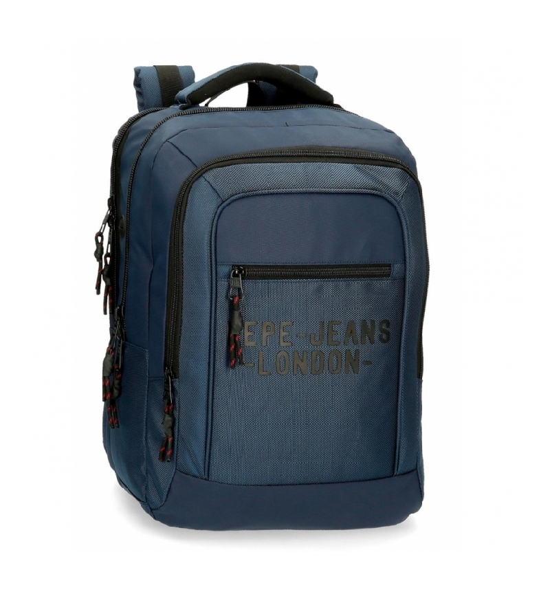 Comprar Pepe Jeans Laptop Backpack Pepe Jeans Bromley Two Compartments Blue