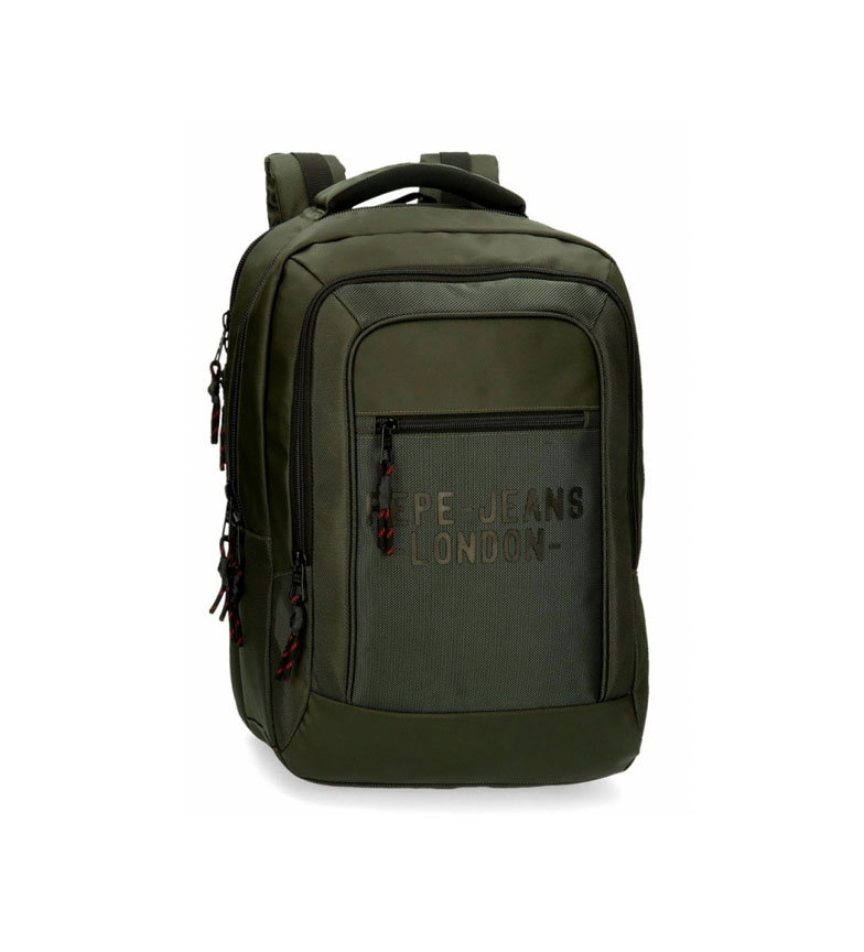 Comprar Pepe Jeans Laptop Backpack Pepe Jeans Bromley Two Compartments Green