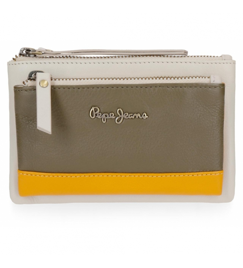 Comprar Pepe Jeans Leather wallet Pepe Jeans Green mine