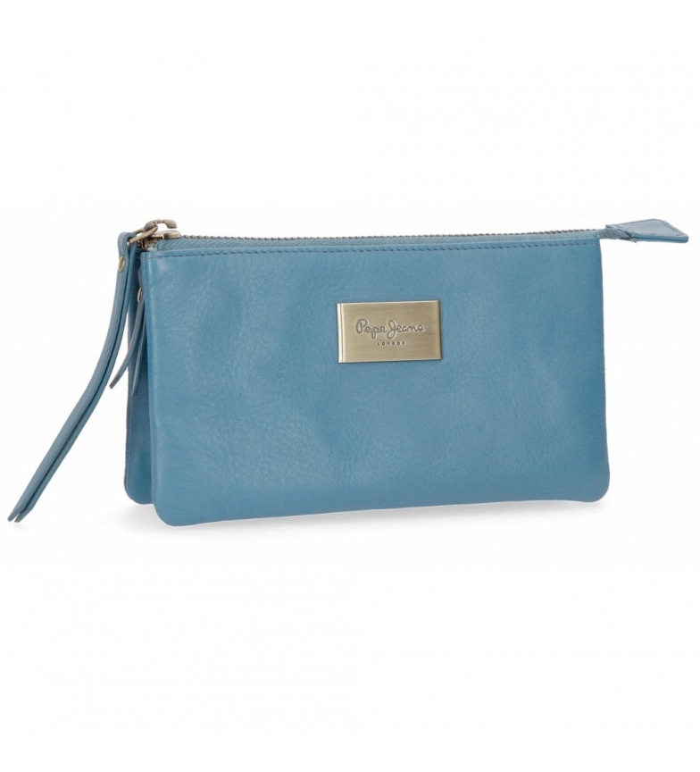 Comprar Pepe Jeans Leather wallet with three compartments Pepe Jeans Lica Blue -17.5x9.5x2cm-
