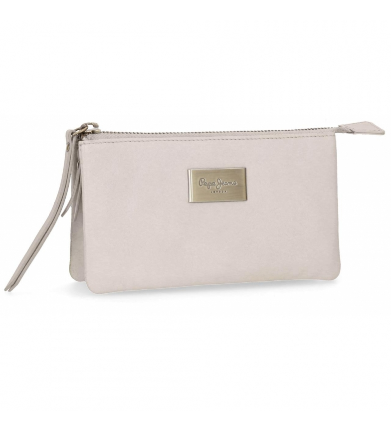 Comprar Pepe Jeans Leather wallet with three compartments Pepe Jeans Lica Beige -17.5x9.5x2cm-