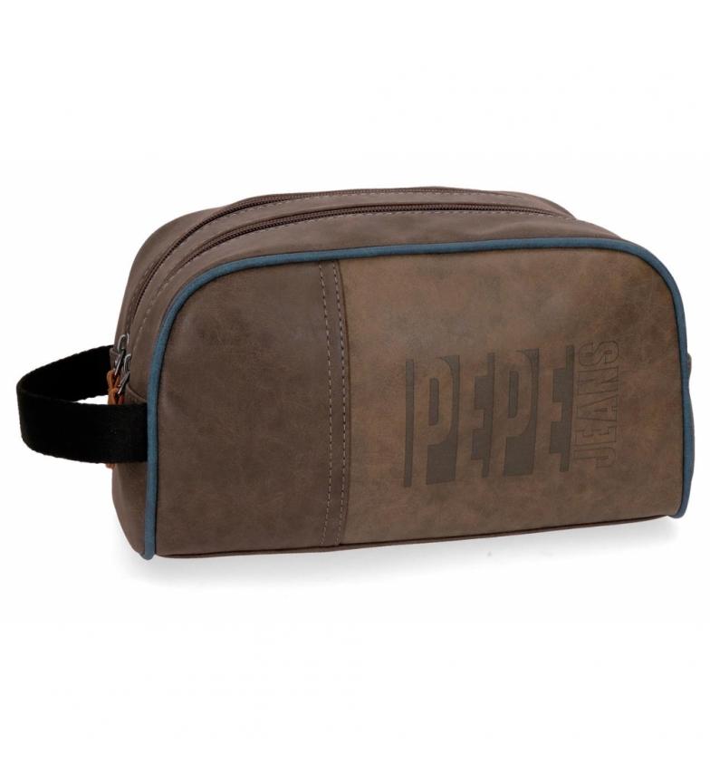 Comprar Pepe Jeans Neceser dos compartimentos Pepe Jeans Max marrón -26x16x12cm-