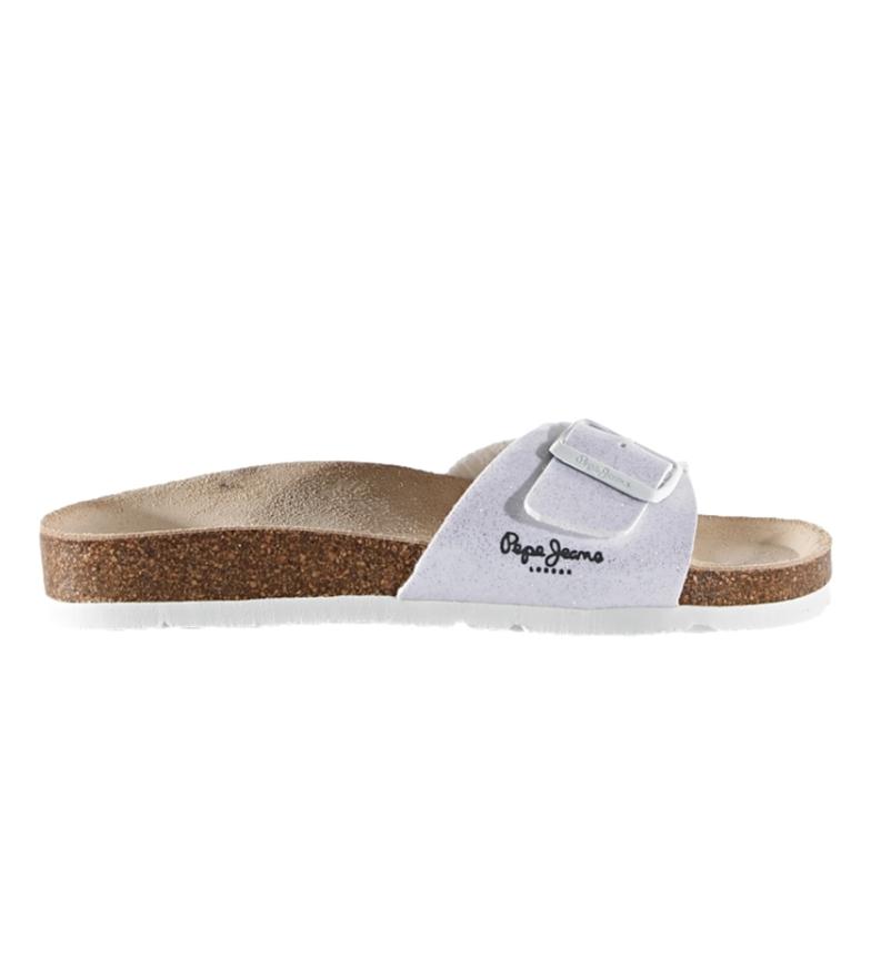 Pepe Jeans Oban Ori LFR white sandals