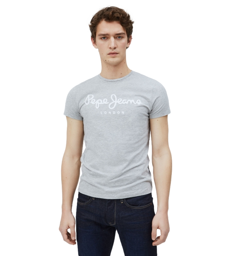 Comprar Pepe Jeans Camiseta Básica Logo Original Stretch gris