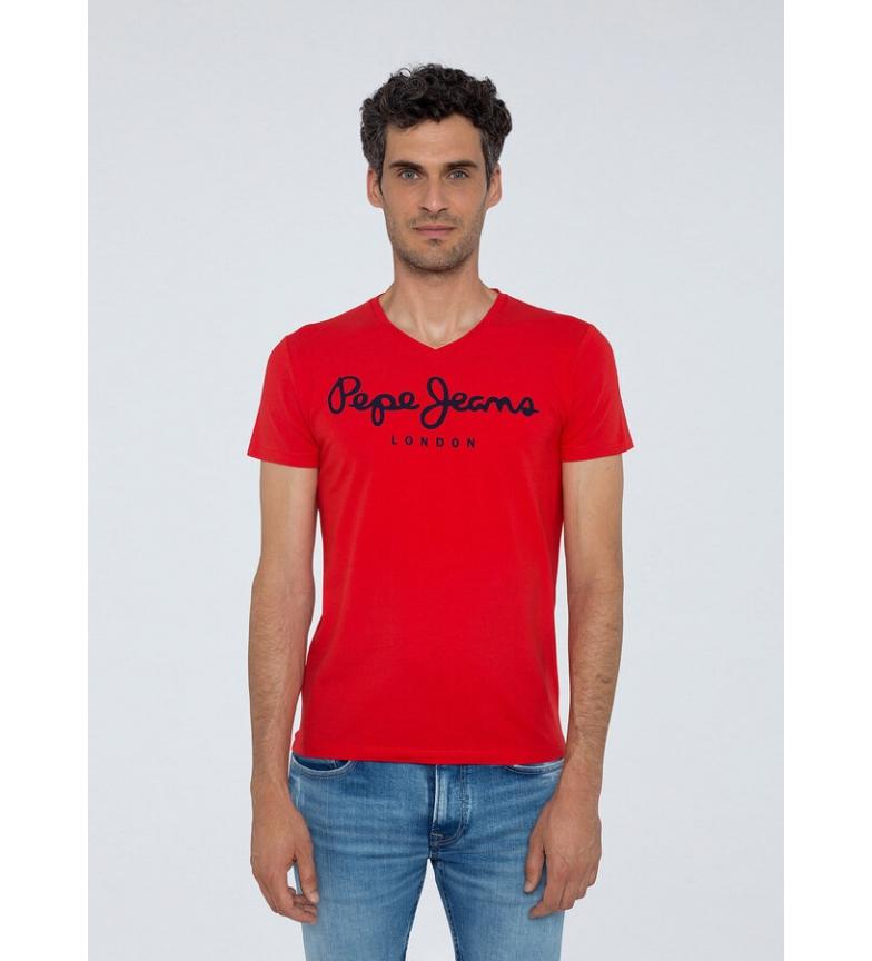 Comprar Pepe Jeans T-shirt original Stretch V rouge