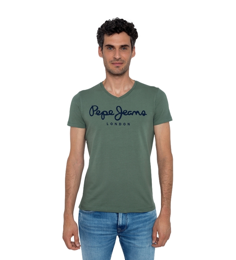 Comprar Pepe Jeans Original Stretch V T-shirt green