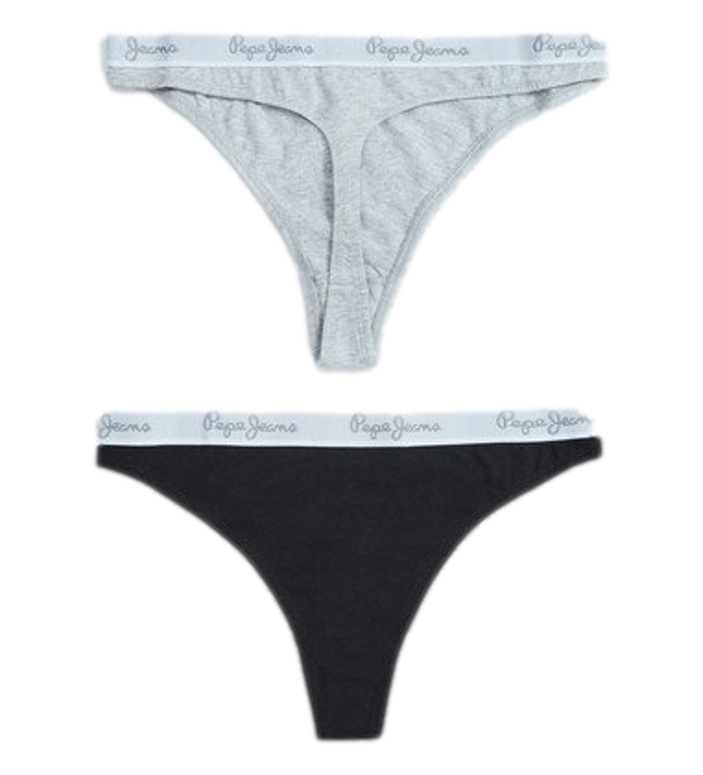 Pepe Jeans Pack 3 tangas Erica cinza, preto, branco