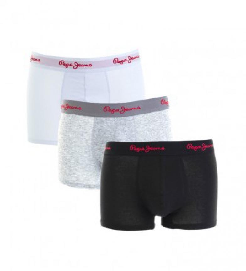 Comprar Pepe Jeans Lot de 3 Archie Boxers noir, gris, blanc
