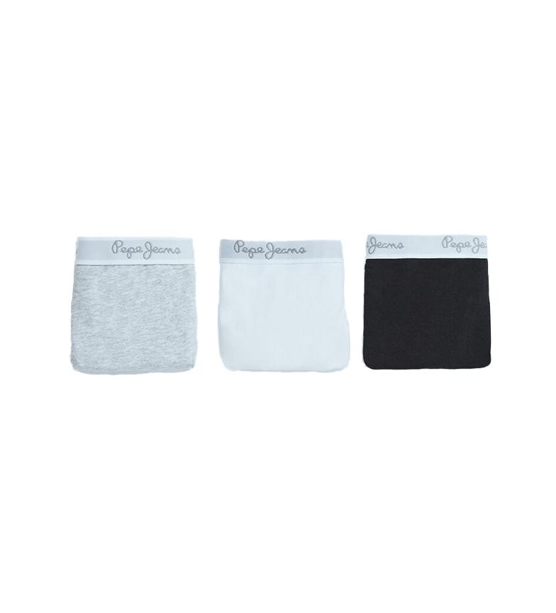 Pepe Jeans Pacote de 3 tangas Erica branco, cinza, preto