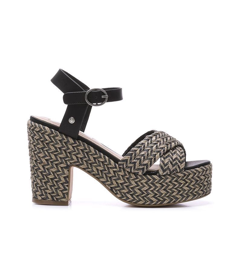 Comprar Pepe Jeans Sandalias de piel Blean Sweet negro -Altura tacón + plataforma: 10 cm-