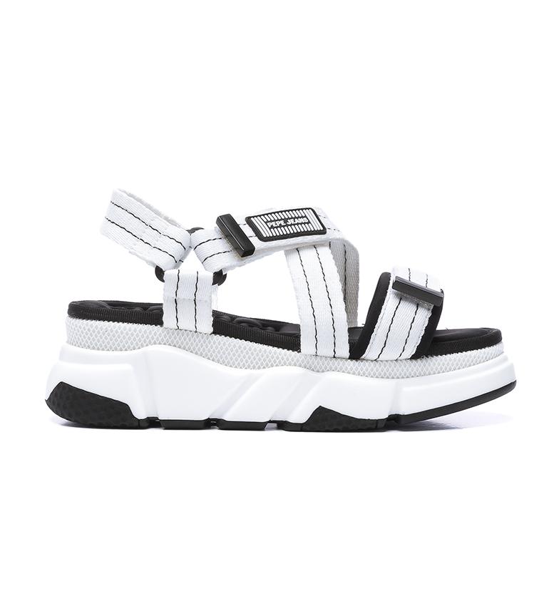 Comprar Pepe Jeans Sandali bianchi Falmer Cross -Altezza plateau + zeppa: 6cm-