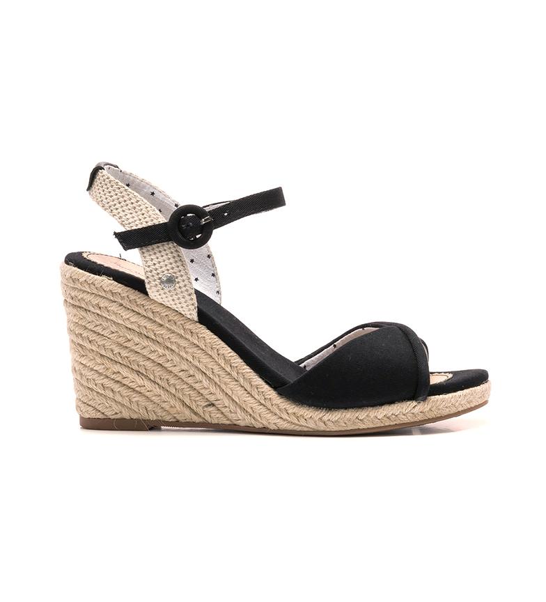 Comprar Pepe Jeans Sandálias Shark Lady preto -Cunha de altura: 8 cm