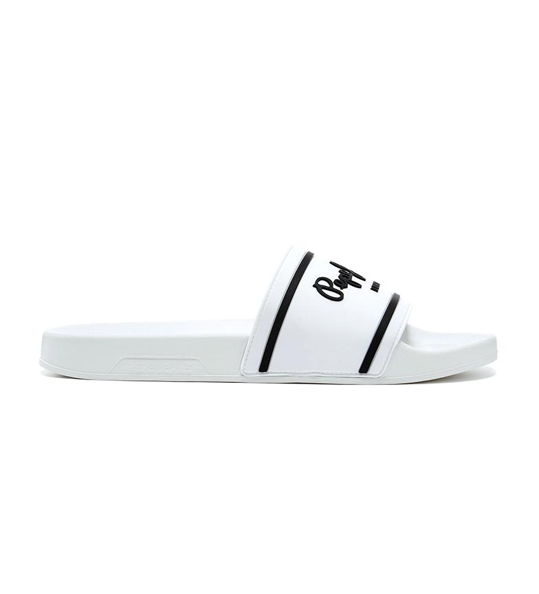 Pepe Jeans Slider Basic 0.2 flip flops branco