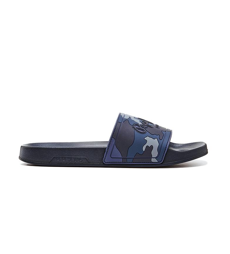 Pepe Jeans Sliders Slider Mimetic camouflage blue