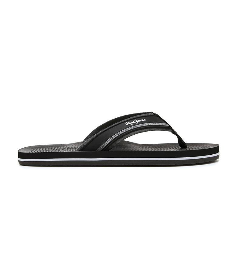 Comprar Pepe Jeans South Beach black flip flops